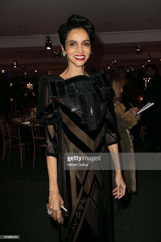 Farida Khelfa attends the Babeth Djian Hosts Dinner For Rwanda To The Benefit Of A.E.M. on December 6, 2012 in Paris, France.