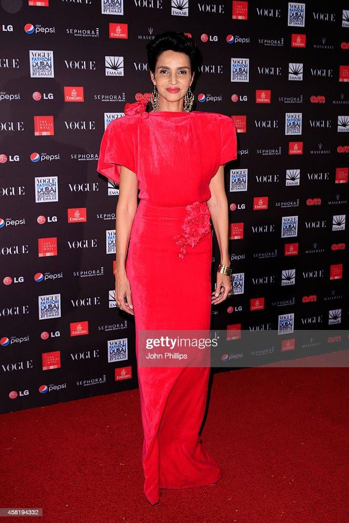 Farida Khelfa attends the Gala Event during the Vogue Fashion Dubai Experience on October 31 2014 in Dubai United Arab Emirates