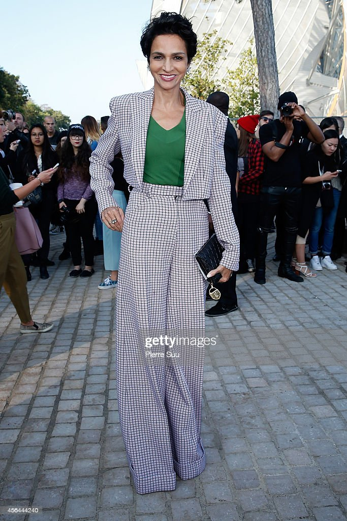 <a gi-track='captionPersonalityLinkClicked' href=/galleries/search?phrase=Farida+Khelfa&family=editorial&specificpeople=4866090 ng-click='$event.stopPropagation()'>Farida Khelfa</a> attends the Louis Vuitton show as part of the Paris Fashion Week Womenswear Spring/Summer 2015 on October 1, 2014 in Paris, France.