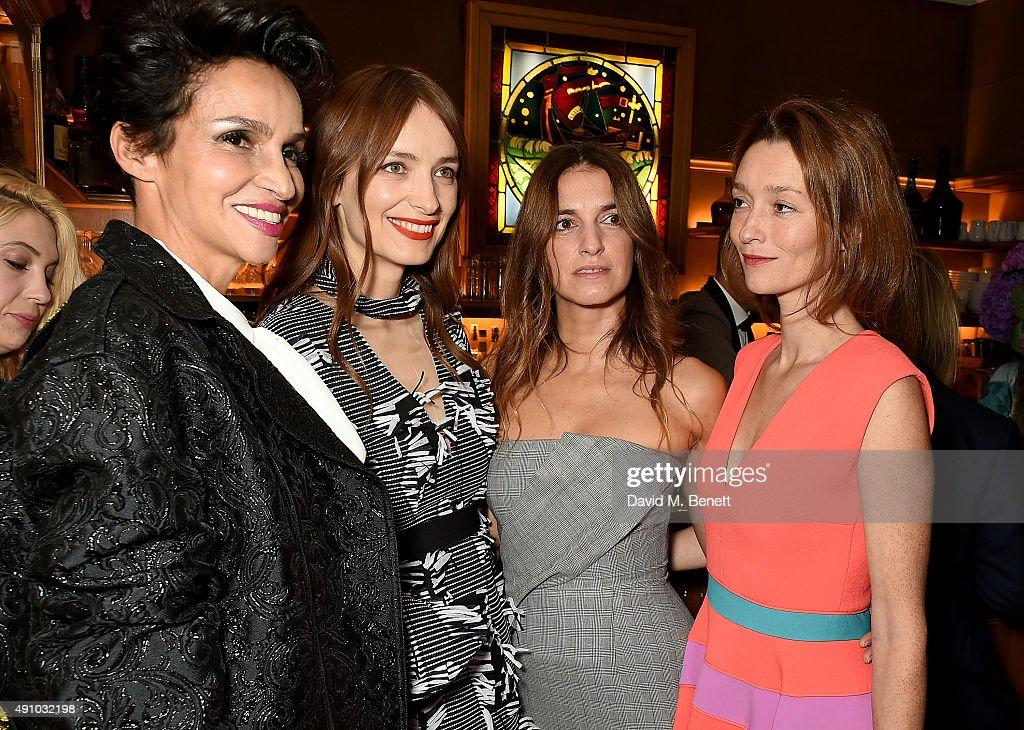 Farida Khelfa Roksanda Ilincic Joana Preiss and Audrey Marnay attend the Roksanda Ten Year Anniversary Dinner at Caviar Kaspia on October 2 2015 in...