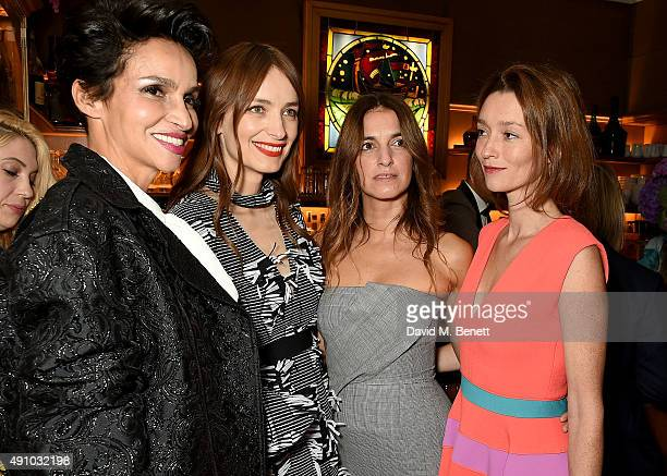 Farida Khelfa Roksanda Ilincic Joana Preiss and Audrey Marnay attend the Roksanda Ten Year Anniversary Dinner at Caviar Kaspia on October 2 2015 in...