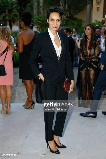 Farida Khelfa Seydoux attends the amfAR Paris Dinner 2017 at Le Petit Palais on July 2 2017 in Paris France