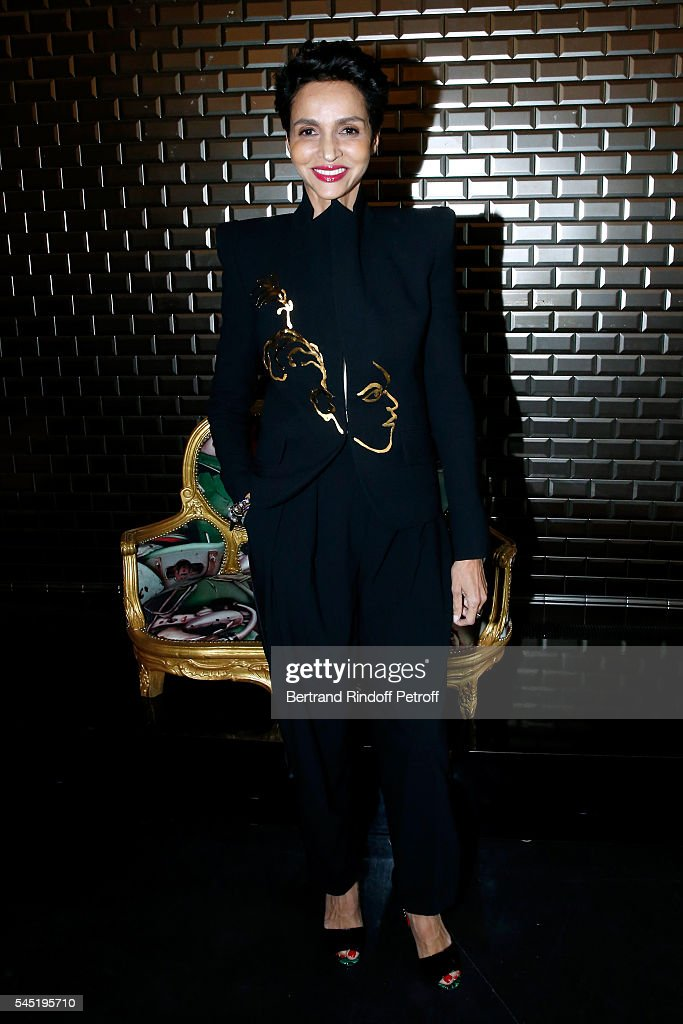 Farida Khelfa Seydoux attends the Jean Paul Gaultier Haute Couture Fall/Winter 20162017 show as part of Paris Fashion Week on July 6 2016 in Paris...