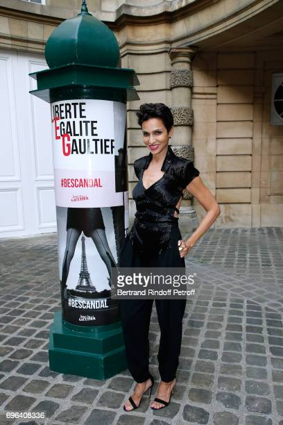 Farida Khelfa Seydoux attends the JeanPaul Gaultier 'Scandal' Fragrance Launch at Hotel de Behague on June 15 2017 in Paris France