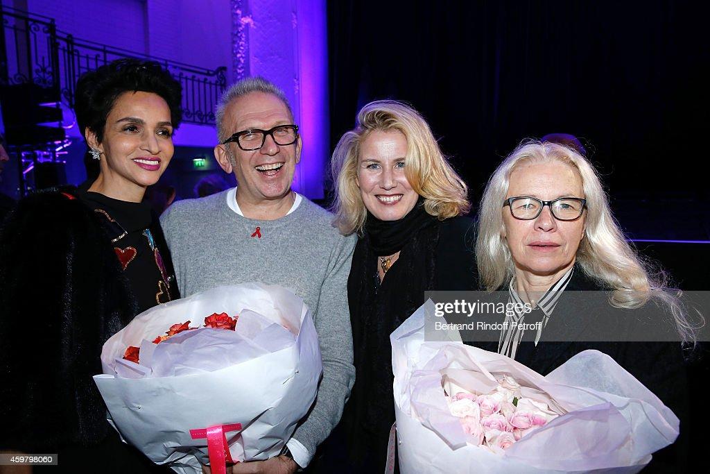Farida Khelfa Seydoux Fashion Designer JeanPaul Gaultier Christine Bergstrom and Photographer Dominique Issermann attend Maison Jean Paul Gaultier...
