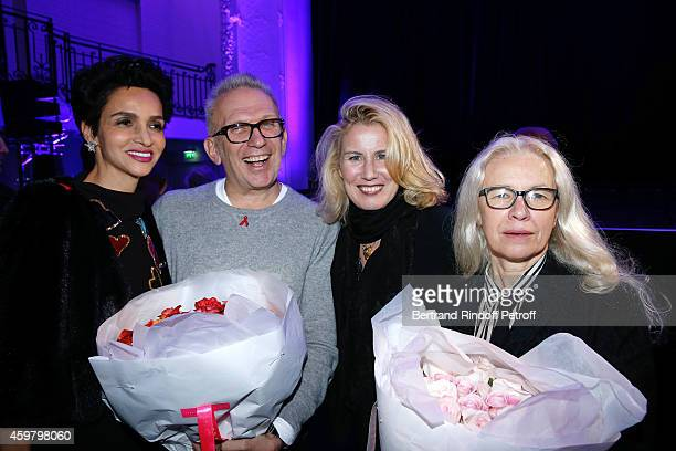 Farida Khelfa Seydoux Fashion Designer JeanPaul Gaultier Christine Bergstrom and Photographer Dominique Issermann attend Maison Jean Paul Gaultier...