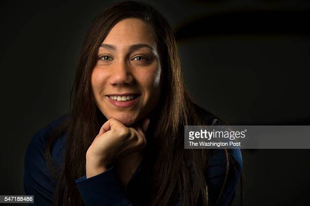 Farida Osman poses for a portrait in Berkeley California on March 29 2016 Osman an Egyptian swimmer and a student at the University of California...