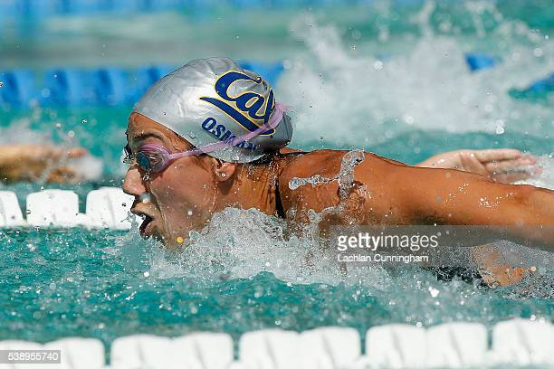 Farida Osman swims in the heats of the 100m butterfly during day one of the 2016 Arena Pro Swim Series at Santa Clara at George F Haines...