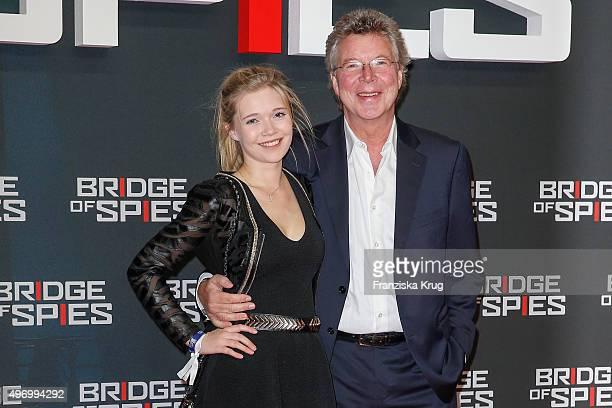 Farina Flebbe and HansJoachim Flebbe attend the 'Bridge of Spies Der Unterhaendler' World Premiere on November 13 2015 in Berlin Germany