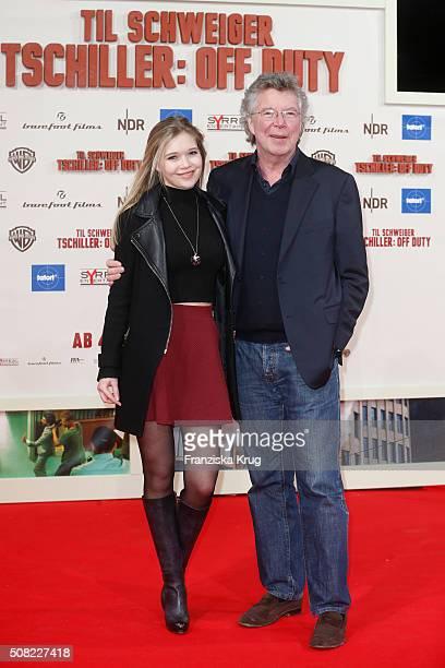 Farina Flebbe and HansJoachim Flebbe attend the 'Tschiller Off Duty' German Premiere In Berlin on February 3 2016 in Berlin Germany