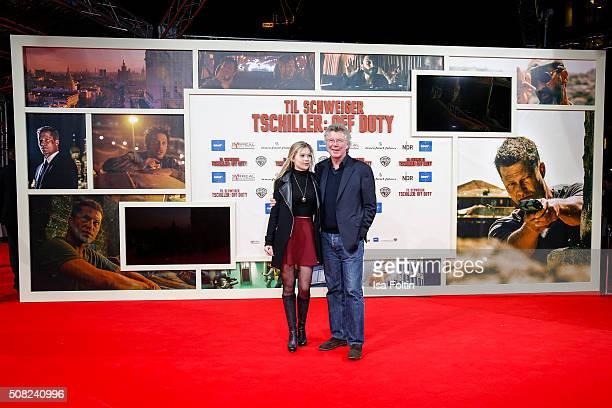 Farina Flebbe and her father HansJoachim Flebbe attend the 'Off Duty' German premiere on February 03 2016 in Berlin Germany