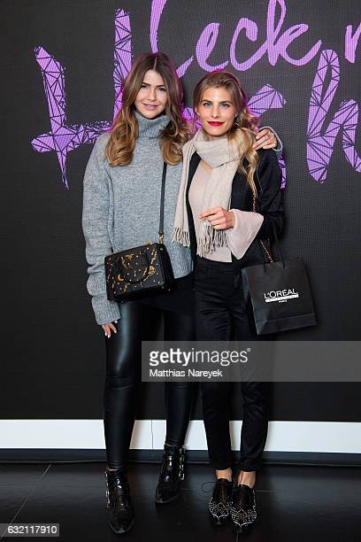 Farina Opoku and Deborah Fluegge attend the 'LECK MICH AM HASHTAG' brunch during MercedesBenz Fashion Week Berlin A/W 2017 on January 19 2017 in...
