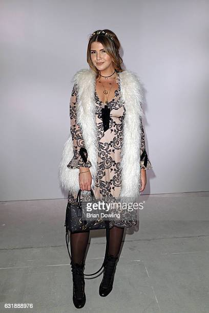 Farina Opoku attends the Lena Hoschek show during the MercedesBenz Fashion Week Berlin A/W 2017 at Kaufhaus Jandorf on January 17 2017 in Berlin...