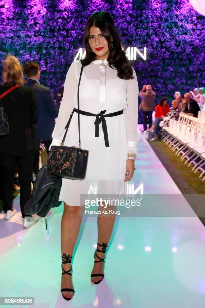 Farina Opoku attends the Marc Cain Fashion Show Spring/Summer 2018 at ewerk on July 4 2017 in Berlin Germany