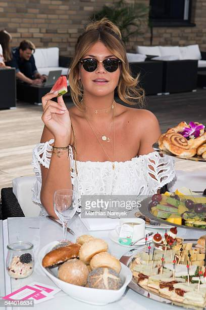 Farina Opoku during the 'LECK MICH AM HASHTAG' Brunch on June 30 2016 in Berlin Germany
