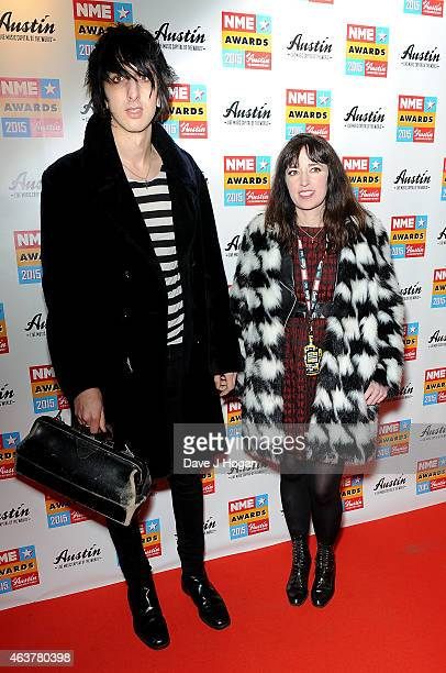 Faris Badwan and Rachel Zeffira attends the NME Awards at Brixton Academy on February 18 2015 in London England