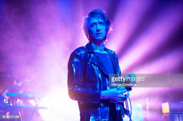 Faris Badwan of The Horrors performs on stage at Volksbuhne in Berlin Germany on November 19 2017