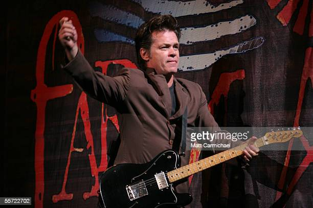 Farm Aid cofounder John Mellencamp performs live at the 20th Anniversary Farm Aid concert benefiting the family farmers affected by Hurricane Katrina...