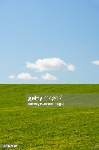 Farm Field With Blue Sky : Stock Photo