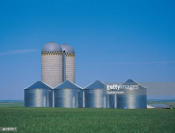 Farm granaries and silos