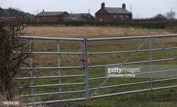 A farm house in Rostherne Cheshire sits on the route of the new proposed HS2 high speed rail link on January 28 2013 in Knutsford United Kingdom The...