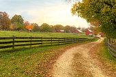 Farm with fall foliage