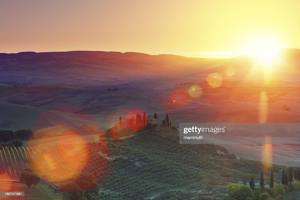 Farm in Tuscany : Stock Photo