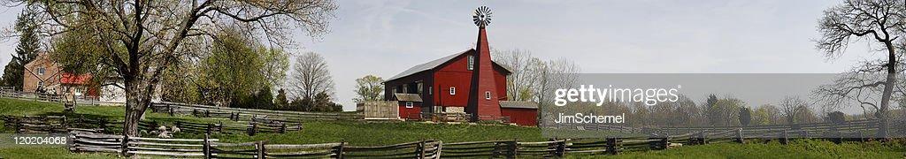 Farm Panoramic : Stock Photo