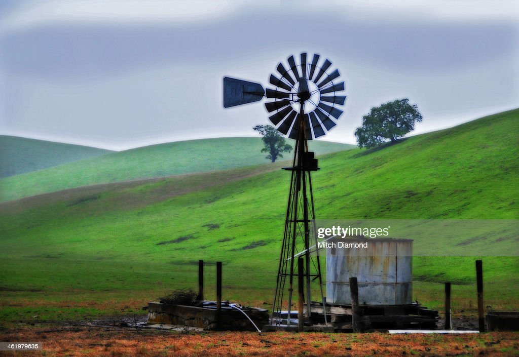 farm windmill : Stock Photo