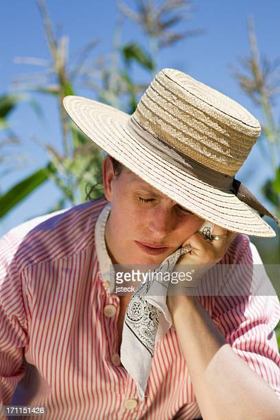 Farm Woman Suffering From Heat Stroke