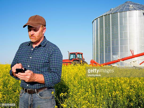 Farm Worker on the Phone