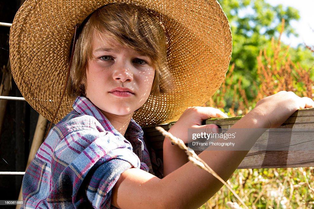 farmboy in hat