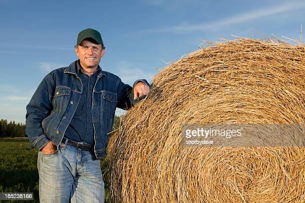 Agriculteur et de foin
