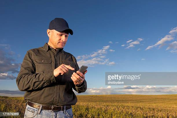 Farmer and Smartphone