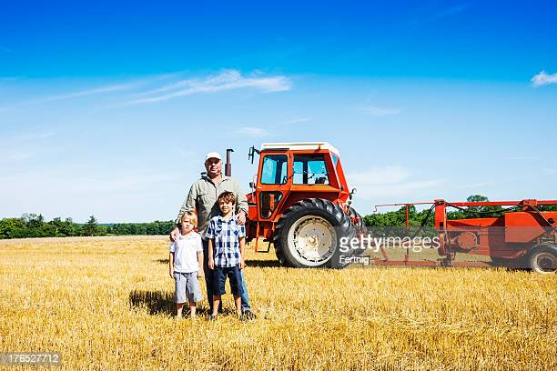 Farmer and sons