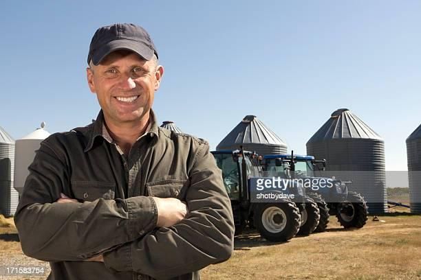 Agriculteur et tracteurs