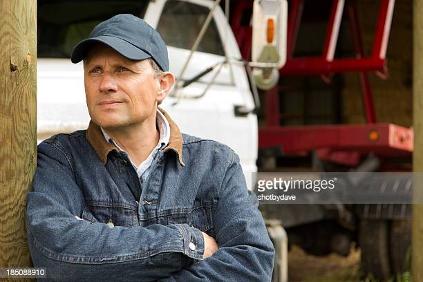 Farmer and Truck