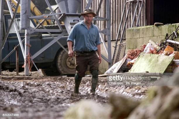 Farmer Andrew Fidler Farringford Farm at Freshwater Bay on the Isle of Wight where Ministry of Agriculture officials are investigating the...
