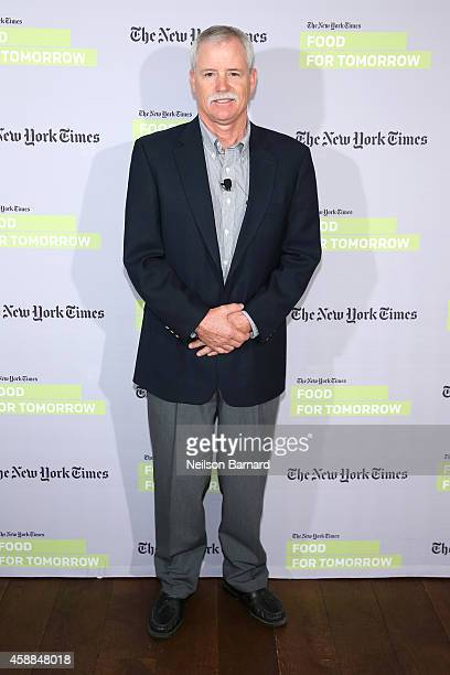 Farmer Bruce Rominger attends The New York Times Food For Tomorrow Conference At Stone Barns NY on November 12 2014 in Pocantico Hills New York