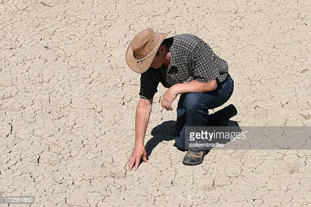 Farmer in drought