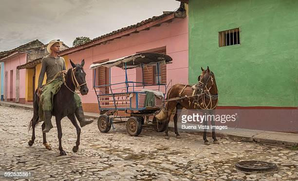 farmer on a horse in Trinidad de Cuba