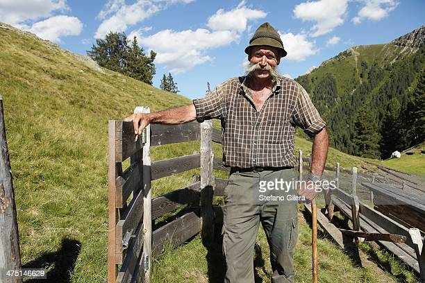 Farmer posing for camera