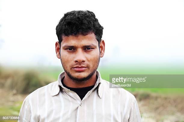 Farmer Standing Portrait