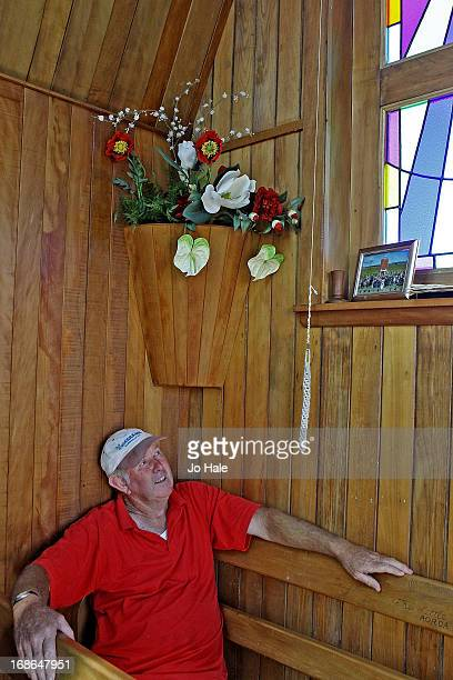 Farmer Warren Suckling inside of The Little Chapel at the NZ Kumara Capital Farm on Janury 8 2013 in Aratapu in the Kaipara District in the...