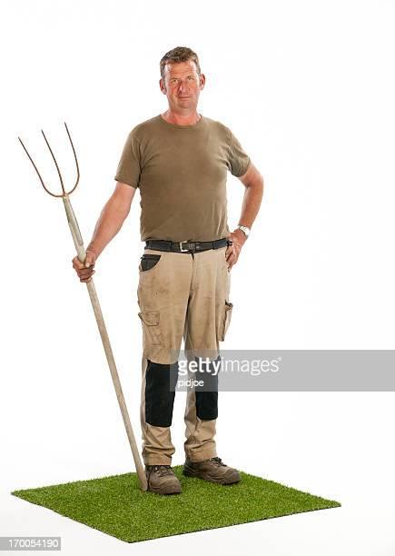 Agriculteur avec Fourche
