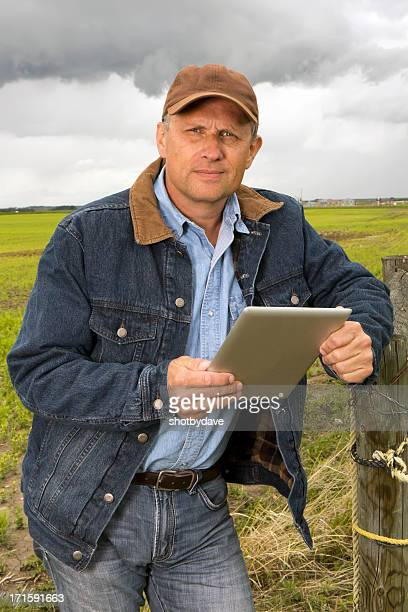 Farmer with Tablet PC