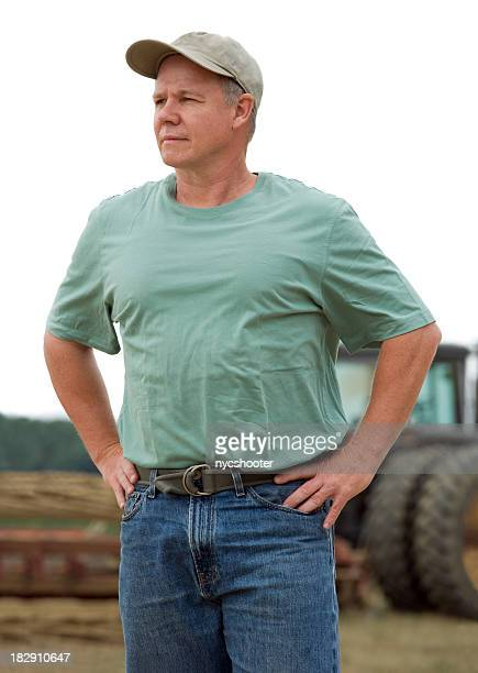 farmer with Tractor portrait