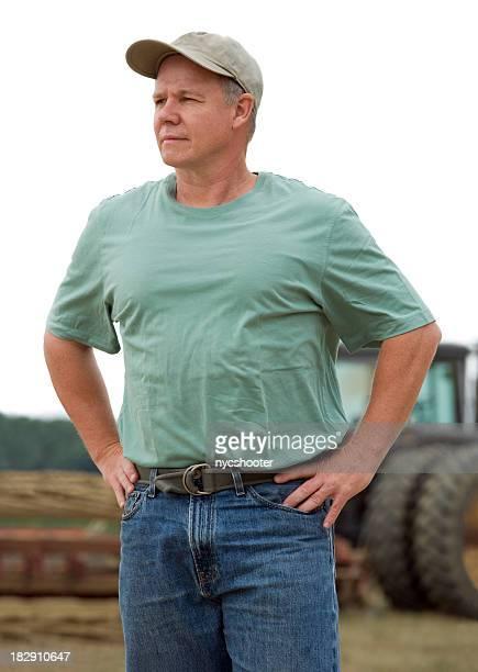 Ferme avec tracteur portrait