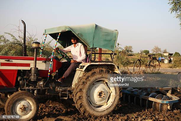Farmer Working in Field