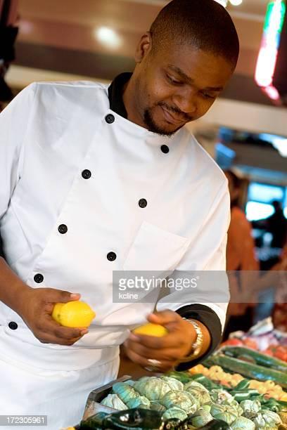 Farmer's Market - Chef Buying Lemons